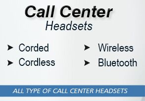 Call Center Headsets, Corded, Wireless, Corded, Bluetooth