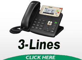Yealink 3 Line SIP VOIP Phones