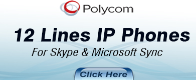 Polycom 12 Lines IP Phones for Skype & Microsoft Lync