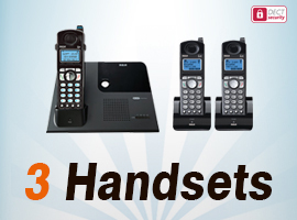 DECT 6.0 Cordless Phones With 3 Handsets