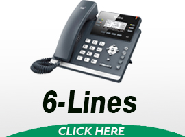 Yealink 6 Line SIP VOIP Phones