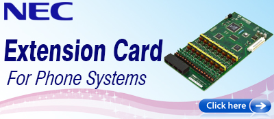 NEC Phone System Extension Cards