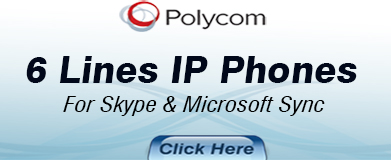 Polycom 6 Lines IP Phones for Skype & Microsoft Lync