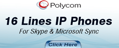 Polycom 16 Lines IP Phones for Skype & Microsoft Lync