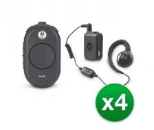 Motorola CLP1060 4 Pack with Bluetooth Heasdet