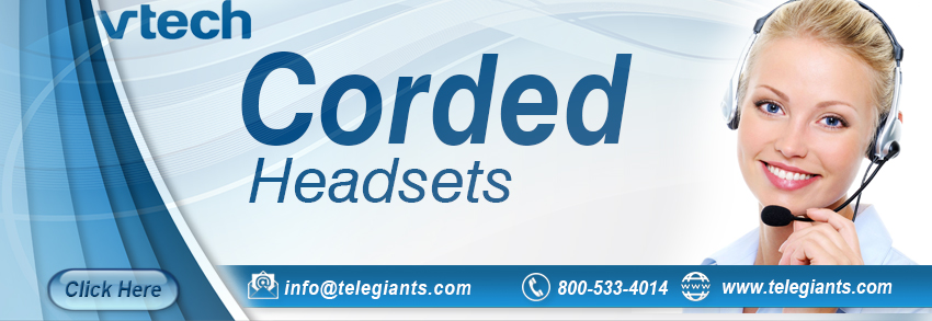 Corded Headsets For VTech Phones