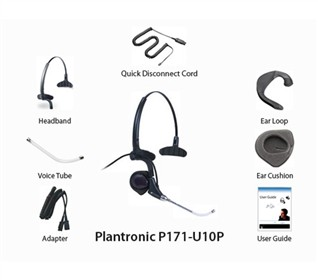 Plantronics Polaris DuoPro P171 U10PPlantronics Corded HeadsetsPlantronics