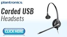 Corded USB Headset
