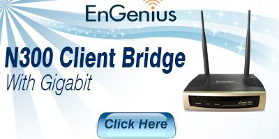 Wireless N300 Indoor Access Point Client Bridge with Gigabit