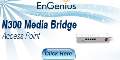 Wireless N300 Media Bridge Access Point