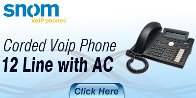 Corded VoIP Phone 12 Line w AC