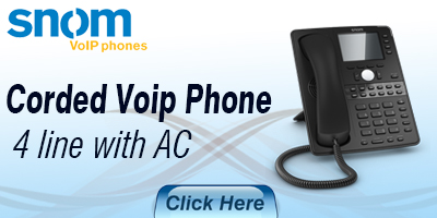 Corded VoIP Phone 4 Line w AC