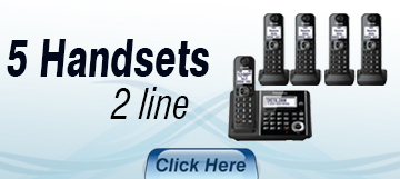 5 Handset Corded Cordless 2 Line